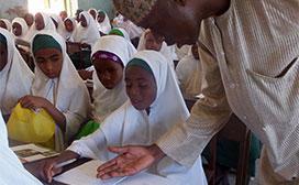 children being taught in school