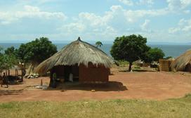 home in zambian countryside