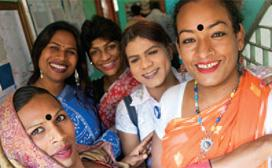 five women at clinic