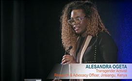 transgender activist speaking at event