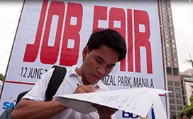 applicant at job fair
