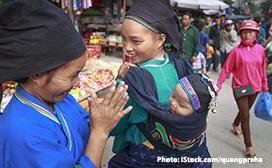 woman with baby in Vietnam
