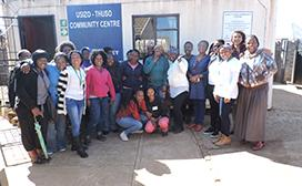 Stepping Stones participants with staff from the National Institute Community Development and Management and the Capacity Development and Support (CDS) project in Lawley, Johannesburg, in May 2017.