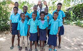 CAP partners provide uniforms for local children