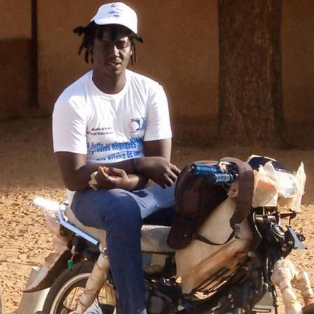 Galo Cissé, motorbike taxi driver, Linguère health district, Senegal