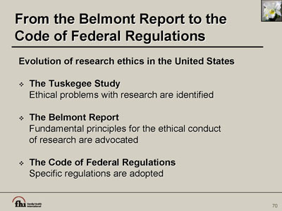 the belmont report summary